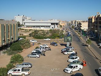 Sabha, Libya - Sebha Bank from Kazem hotel