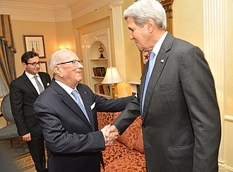 Beji Caid Essebsi - Béji Caïd Essebsi with U.S Secretary of State John Kerry (September 19, 2016 in New York City).