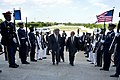 Secretary of Defense Chuck Hagel escorts French Minister of Defense Jean-Yves Le Drian through an honor cordon at the Pentagon.jpg
