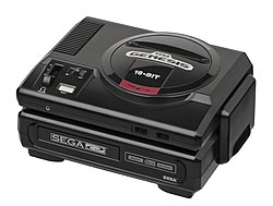 Original North American Sega CD and a model 1 Sega Genesis