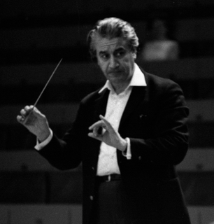 Sergiu Celibidache Romanian conductor and composer