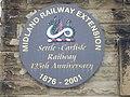 Settle to Carlisle Railway 125th Anniversary plaque - geograph.org.uk - 831767.jpg