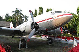 Garuda Indonesia - Douglas DC-3 Seulawah, the first Garuda Indonesia aircraft on display in Taman Mini Indonesia Indah, Jakarta. It is a contribution from the Acehnese people.