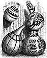 Seven Years in South Africa, page 305, Marutse-Mabunda calabashes for honey-mead and corn.jpg
