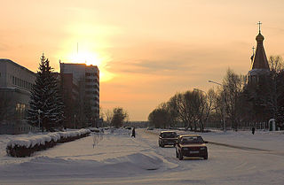 Seversk City in Tomsk Oblast, Russia