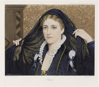 Twelfth Night - A depiction of Olivia by Edmund Leighton from The Graphic Gallery of Shakespeare's Heroines