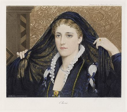 A depiction of Olivia by Edmund Leighton from The Graphic Gallery of Shakespeare's Heroines Shakespeare's Heroines - Olivia.jpg