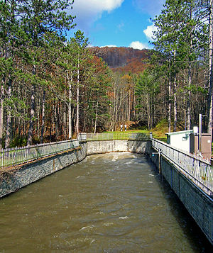 Shandaken Tunnel - The south outlet of the Shandaken Tunnel, just above Esopus Creek.