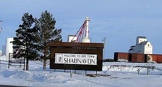 Shaunavon, Saskatchewan - Welcome sign