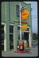 Shell Gasoline sign, angle view, Delaware Street, Walton, New York LCCN2017703761.tif