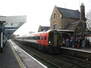 Salisbury and Yeovil Railway - A modern train calls at Sherborne