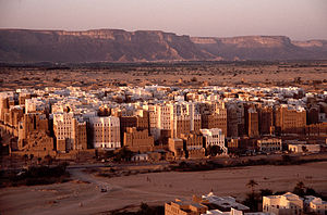 The high-rise architectures at Shibam, Wadi Ha...