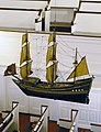 Ship model in Gloria Dei Church, known as -Old Swedes- church, dedicated in 1700 in Philiadelphia, Pennsylvania LCCN2011632226.jpg