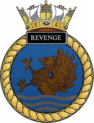 HMS Revenge (S27) - Image: Ships crest of HMS Revenge (S27)