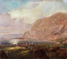 Shoreline with cliffs