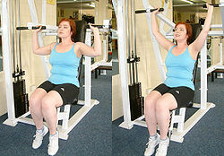 Shoulder press machine.