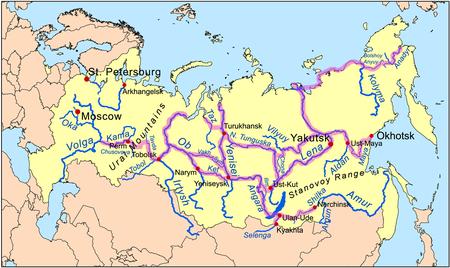 Sibirien Flüsse