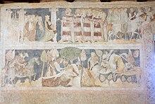 Siedlęcin Wieża Książęca Gotyckie malowidła ścienne (17).JPG