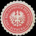 Siegelmarke Der K. Landrath des Kreises Bitburg W0381986.jpg