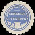 Siegelmarke Gemeinde Attenhofen K. Bayern W0352400.jpg