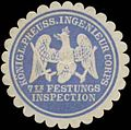 Siegelmarke K.Pr. Ingenieur Corps 7te Festungsinspection W0379365.jpg