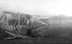 Siemens-Schuckert R.VII - The R.VII wrecked at Cologne