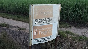 Gilberton, Queensland (Gold Coast) - Sign about environment remediation, Gilberton, 2014