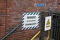 Sign at Bache railway station (28807528502).jpg