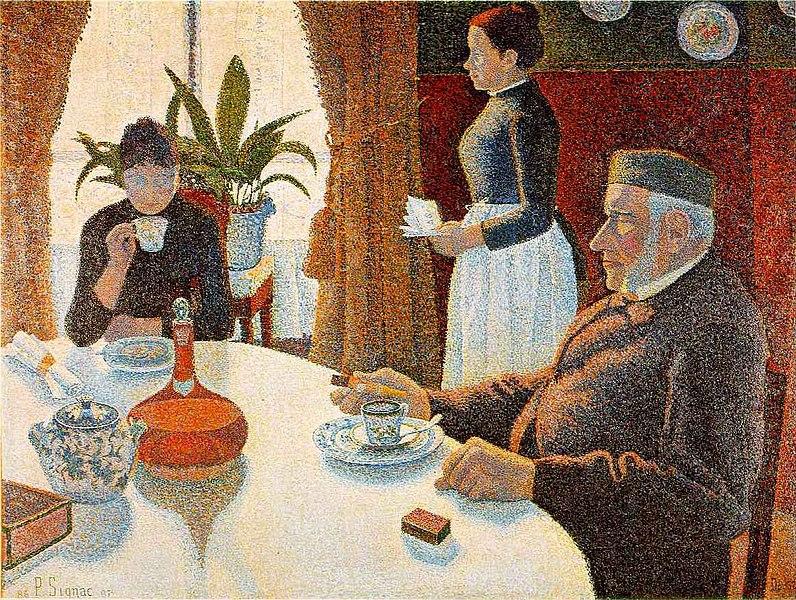 Paul Signac, Breakfast, 1886-1887 - Kröller-Müller Museum