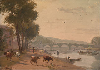 A View of Richmond Bridge, on the Thame