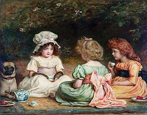 Afternoon Tea or The Gossips, painting by Sir ...