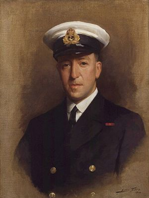Paul Fildes, in navy uniform