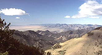 Hot Creek Range - Sixmile Canyon in the Hot Creek Range, looking south from Mahogany Peak