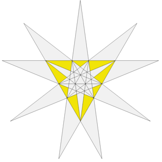 Great icosahedron - Image: Sixteenth stellation of icosahedron facets
