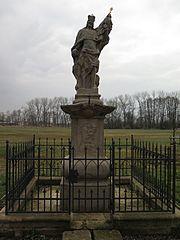 Sloup se sochou svatého Václava