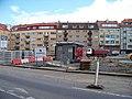 Smyčka Podbaba, trafika ve staveništi.jpg