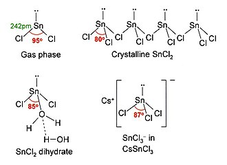 Tin(II) chloride - Structures of tin(II) chloride and related compounds