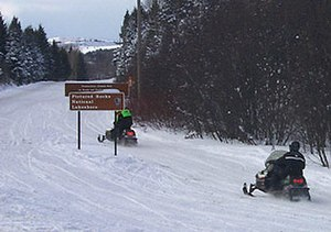 H-58 (Michigan county highway) - Image: Snowmobiling H 58
