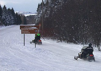 H-58 (Michigan county highway) - Portions of H-58 are not plowed in the winter months; closed to vehicle traffic, the road is used as a snowmobile trail instead.
