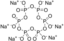 Skeletal formula of sodium hexametaphosphate