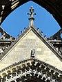 Soissons (02), abbaye Saint-Jean-des-Vignes, abbatiale, façade occidentale, pignon de la nef.jpg