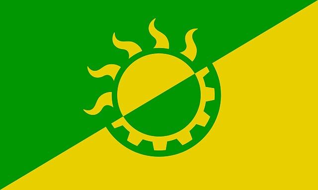 solarpunk bandera
