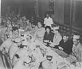 Soldiers at Passover meal, circa 1945 (8580208108).jpg