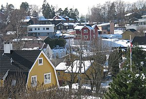 Ullern - View of the residential area at Sollerud