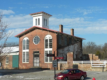 South Side Railroad Depot on Rock Street which served as the office of William Mahone when his Readjustor Party dominated Virginia politics. SouthSideRailroadDepotPetersburgVA.JPG