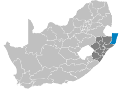 Ligging Umkhanyakude District Municipality