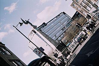 Dutch angle - A street scene shot using Dutch angle