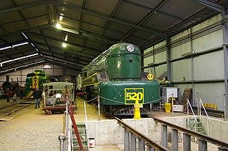 SteamRanger Heritage Railway - Image: South Australian Railways 520 class loco at the Steam Ranger Museum