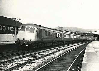 Neath railway station - A Swansea-bound South Wales Pullman at Neath General in 1967