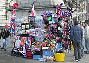 A Souvenir stall in London, England